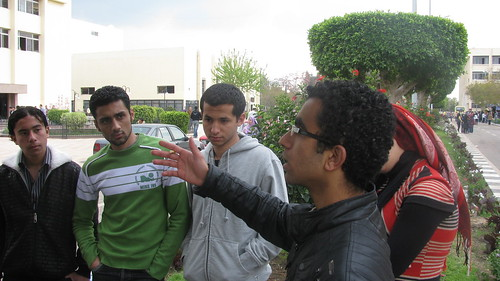 hakky movement activists in mansoura university by Egyptian blogger مدون مصرى.