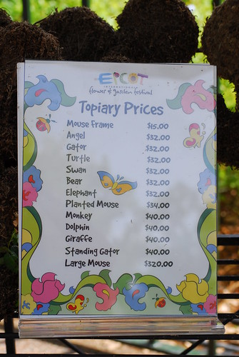 Topiary Prices