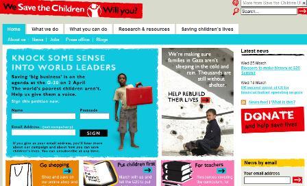 Save the Children donate button