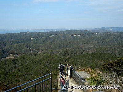 Up the observatory platform