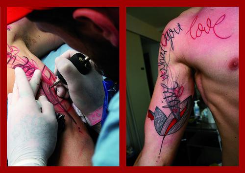 Tattoo Arnaud Live what you love by Guy alternativ tattoo
