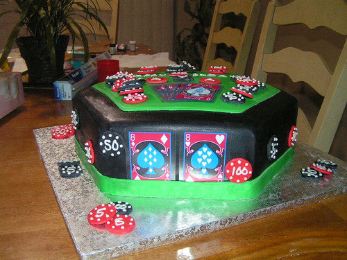 Tobi's 1st Solo Creation- Ava's 22nd Birthday Cake- Poker Table Cake-July 2009