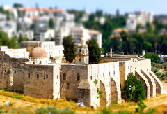 Mini Monastery of the Cross (jglsongs) Tags: manipulated jerusalem tiltshift  tiltshiftphotography  tiltundshiftobjektiv