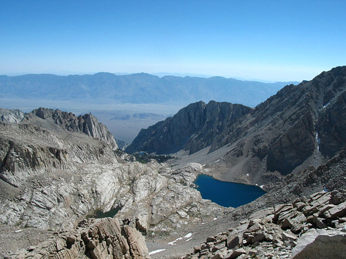 Along the trail to the summit of Mt. Whitney