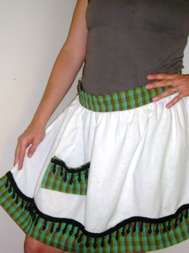 plaid apron 008-1