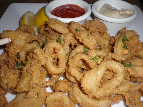 The calamari suffered from a too-dry breading