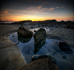 Fortune's Rocks Vertorama (moe chen) Tags: ocean panorama beach pool rock sunrise dawn sand nikon rocks maine sigma moe 1020mm fortunes tidal hdr biddeford d300 5xp vertorama moe76