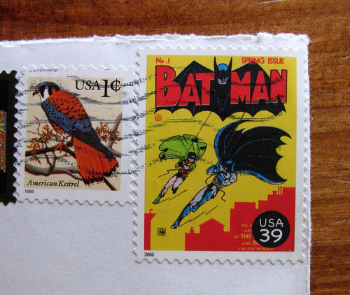 Batman stamp!
