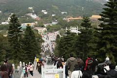 up, down and around (werxj) Tags: china travel people stairs buildings landscape hongkong honeymoon buddhist religion tourists visitors 2008 lantauisland lantau canonef24105mmf4lisusm bej