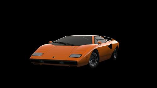 GT PSP - Lamborghini Countach LP400 '74 SpecialColor A front