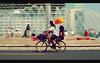 Family Ride Sunday (khaniv13) Tags: family people bike bicycle june 35mm nikon ride sunday jakarta transportation f18 2009 afs carfreeday bundaranhi d40x khaniv13