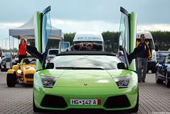 Lp640R. (Laurens Driest) Tags: color verde car lens photography italian nikon dof bokeh sigma automotive apo special fave heat laurens lamborghini supercar roadster murcielago zoomlens ithica 70300 d40 lp640 driest