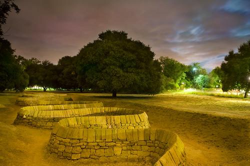 Stone River at Night