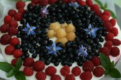 Summer cheesecake (liisatuulia) Tags: food decoration cheesecake blueberry rasberry minttu kakku mustikka marjat vadelma koristelu kurkkuyrtti