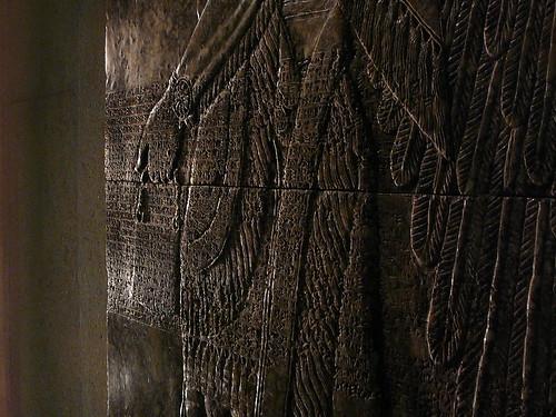 Un detalle del bajorrelieve del Palacio de Nimrod.