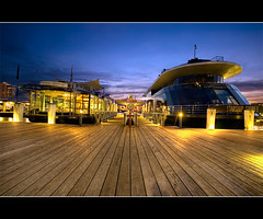 starship sydney (Pawel Papis Photography) Tags: wood blue sunset yellow night lights pier boat ship sydney australia hose wharf nsw hdr kingstreetwharf sigma1020 3ex canon400d starshipsydney oldbigboat