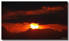 Sunset portrait (G.hostbuster (Gigi)) Tags: sunset red sea sky italy sun black clouds italia tramonto nuvole mare sony liguria cielo sole rosso nero ghostbuster sestrilevante anawesomeshot dsch9 photoexplore vosplusbellesphotos gigi49