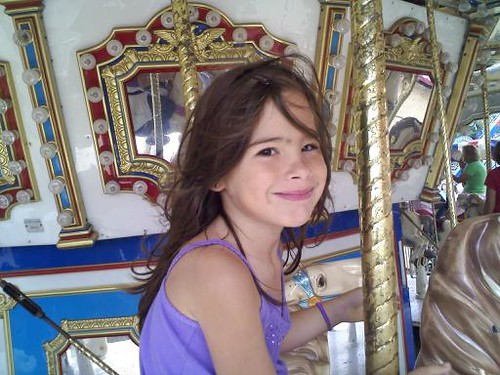 Alex on the carousel (by kwbridge)
