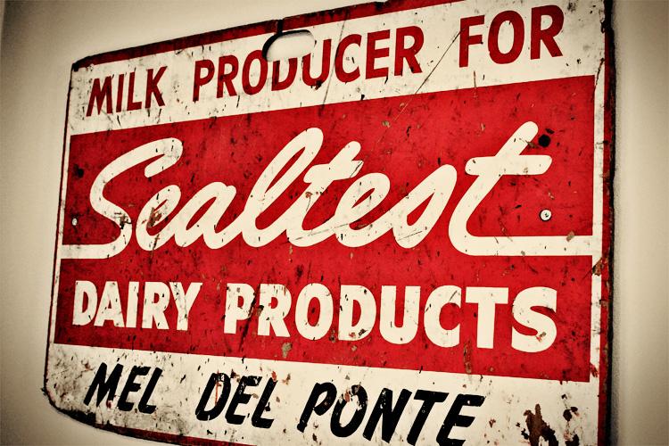 vintage dairy sign