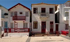 Costa Nova (guida medlam) Tags: houses portugal traditional balconies cobbles aveiro whitewashed costanova