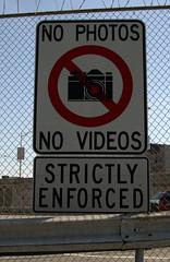 Rule enforcement sign