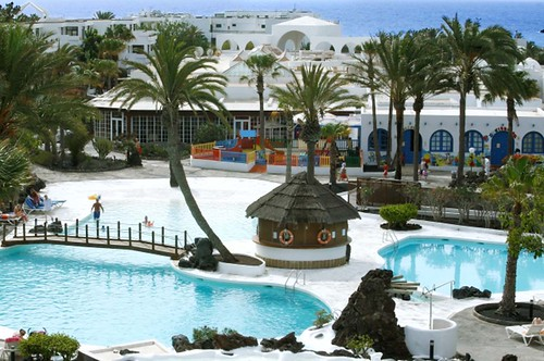 Vista panorámica del hotel en Lanzarote