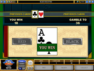 free Cashville gamble bonus game
