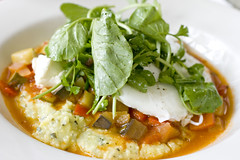 polenta, ratatouille, poached eggs 2