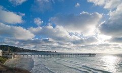 Scripps Pier 9.14.09 (cheese and rice) Tags: sunset nikon sandiego lajolla hightide scrippspier d80 tokina1116mm