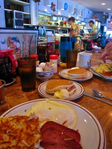 HEARTY breakfast at Ken's