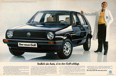 VW Golf II (1983) (jens.lilienthal) Tags: auto classic cars car vw vintage golf volkswagen print advertising media reclame ad voiture historic advertisement ii oldtimer 1983 autos werbung reklame voitures anzeige youngtimer