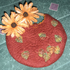 falling leaves- felted autumn bag