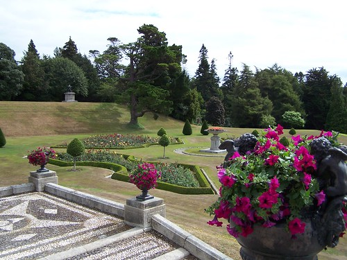 Powerscourt Gardens, overview formal garden