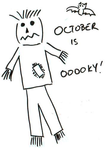 366 Cartoons - 246 - October is Ooooky