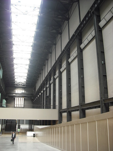 Inside the Tate Modern - formerly a power plant