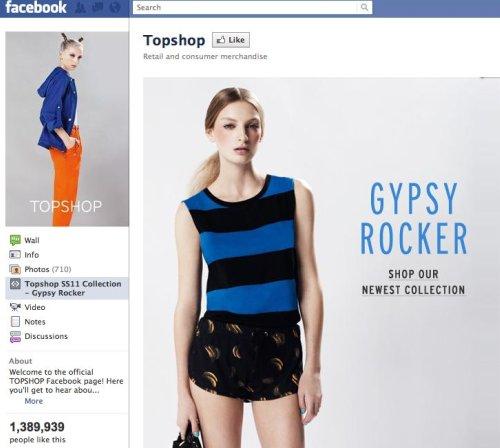 Topshop Facebook