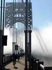 George Washington Bridge over Hudson River, New York-New Jersey (jag9889) Tags: bridge ny newyork fog 1931 puente newjersey crossing suspension manhattan nj bridges ponte pont hudsonriver brcke gw gwb waterway georgewashingtonbridge 2011 bergencounty othmarammann panynj portauthorityofnewyorkandnewjersey k007 y2011 jag9889