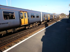 Good morning Blundellsands & Crosby (Paul Gloverpeel) Tags: shadow sunshine train spring rail shade android crosby flickrandroidapp:filter=none