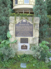 Plaque in front of the Winchester House