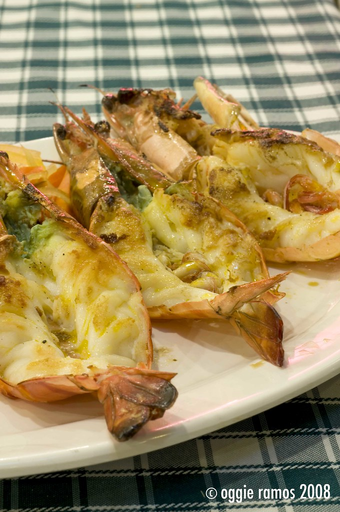 Hai Sain Grilled Tiger Prawns on Lemon and Butter