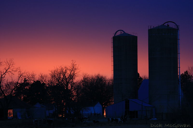 Kansas Farm + Sunset