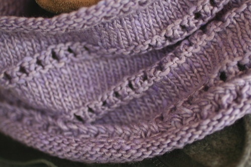 Stacked Eyelet Cowl in Cash Iroha