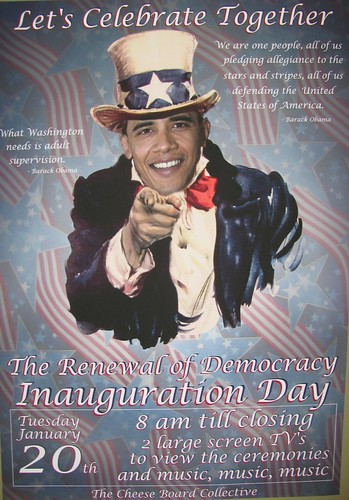 Obama Inauguration Party Poster by Riot Becki's Toy Boy 2.