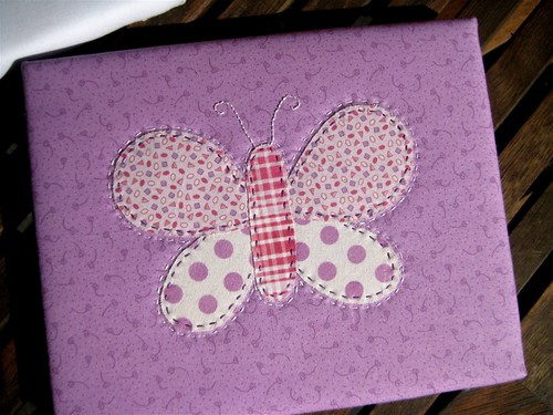 Butterfly applique canvas