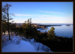 Sugarloaf Mountain (Blondieyooper) Tags: winter sky mountain snow nature water beauty up seasons view michigan hike sugarloaf upperpeninsula lakesuperior marquette northernmichigan