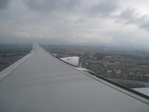 Landing at the Bogota airport