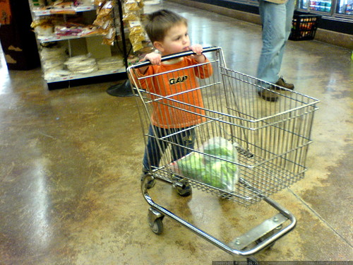 Boy In Grocery Store