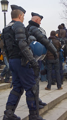 Paris Riot Police (ZenDane) Tags: paris france riot action protest police uniforms armour riotpolice lx2 policebody