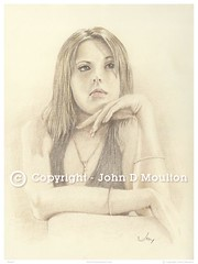 Emma (The Art of John D Moulton) Tags: portrait pencil eyes emma cream coloredpencil femaleform emmajohnson sensualart johndmoulton