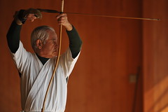 Japanese bow martial art (Derekwin) Tags: japan japanese nikon kyoto martialarts bow target arrow aim meditation archery kyudo aiming precise d700 nikond700